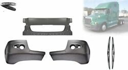 Freightliner Century Bumper Corner With Two Holes And Front Bumper Black+logo