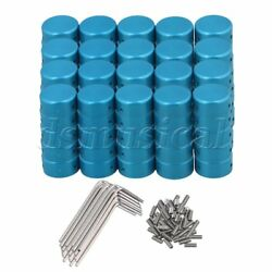 100x Guitar Effects Accessories Stomp Switch Pedal Box Foot Metal Blue
