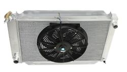 Fits 79-93 Ford Mustang 3 Row Aluminum Racing Radiator+14 Fans