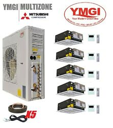 YMGI 60000 BTU FIVE QUINT ZONE DUCTLESS SPLIT AIR CONDITIONER WITH HEAT PUMP