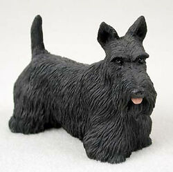 Scottish Terrier Hand Painted Collectible Dog Figurine Statue