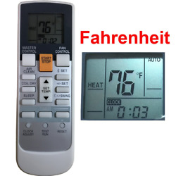 Replacement for Fujitsu Air Conditioner Remote Control Ar-Rah2u Ar-Rah1u Ar-Rae2