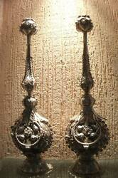 1900c Mugaland039s Antique Indian Sterling Silver Perfume Sprinkler Pair Beautiful