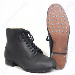 German Combat Low Boots - Ww2 Repro Army Military Hobnail Leather All Sizes New