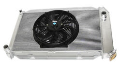 Fit 14 Fans Fits For 71-73 Ford Mustang V8 Mt Aluminum Racing 3 Row Radiator