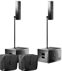 Fbt Audio Vertus Cs1000 Pair Package Compact Line Array Integrated System And Bags