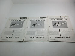 Mcculloch Chainsaw Illustrated Parts List Ipl Super 250 And 895 Saws Etc