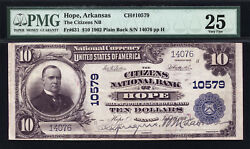 10 1902 Pb The Citizens National Bank Of Hope, Arkansas Ch 10579 Fr 631 Pmg 25