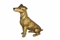 Jack Russell Dog Bronze Statue -  Size: 22