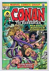 Conan The Barbarian 32 Vf Owp Complete 1973 1st Print Marvel Comics Pwc