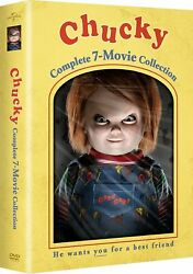 Chucky Complete Series Collection 1 2 3 4 5 6 7 Childs Play Movie Dvd Box Set