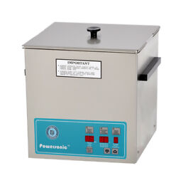 New Crest Powersonic P1100d-45 3.25 Gal Heated Ultrasonic Cleaner, 1100pd045-1