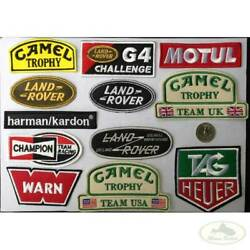 Land Rover Patch Set X12 Embroidered 4x4 Badge Camel Trophy G4 Warn Harman Tag