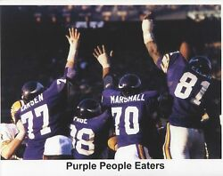 Purple People Eaters 8x10 Photo Minnesota Vikings Picture Game Action