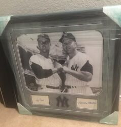MICKEY MANTLE & ROGER MARIS SIGNED INDEX CARD DISPLAY NEW YORK YANKEES JSA AUTO