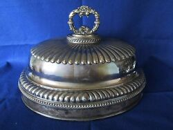 Important Authentic Antique Legendary Lousada Old Sheffield Plate Meat Dome