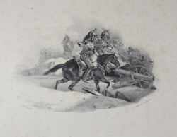 Theodore Gericault French 1791-1824 Cuirassiers Chargeant Lithograph On Wove