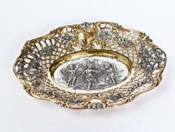 Silver Plate Bowl For Sweets Dance Of Angels