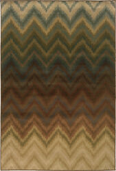 Hudson By Oriental Weavers. Transitional Geometric Area Rug. Brown/blue 3458a