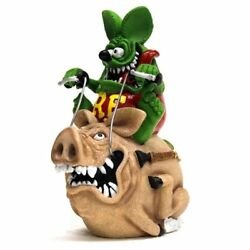 Rat Fink Hog Riding Coin Bank Statue Figure Ed Roth Japan Rare Sold Out Item