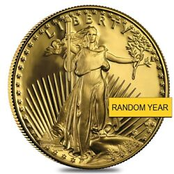 1 Oz Gold American Eagle 50 Coin Proof In Cap Random Year