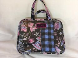 NWOT Vera Bradley Travel Clear Cosmetics Travel Case in Alpine Floral Bag TSA