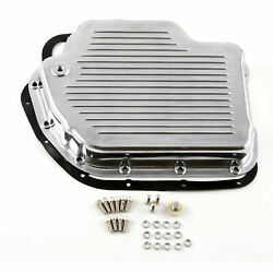 Turbo Th400 Finned Aluminum Transmission Oil Pan Set Polished W/bolts And Gasket