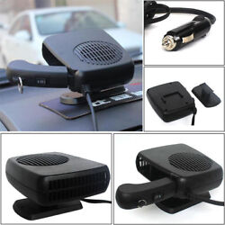 Portable 24V Car Auto Ceramic Heating Heater Vehicle Fan Defroster Demister 150W