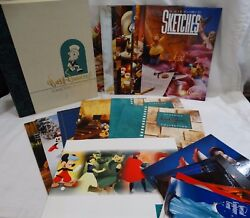Walt Disney Collectors Society Collection Sketches Postcards Booklets