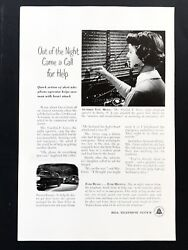 1954 Vintage Print Ad BELL TELEPHONE 50's Switchboard Operator Woman Image Work