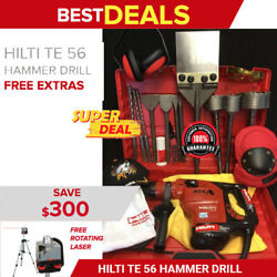 Hilti Te 56 Hammer Drill Preowned Free Rotating Laser Bits Fast Ship