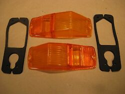 New Lucas Front Flasher / Marker Lamp Lens And Gaskets For Mgb Triumph