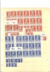 Germany Stamps 1947-1949 Multiples Unused And Used Scott 578-700 Incl Post Horn
