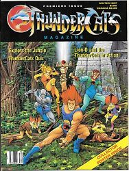 Thundercats Magazine 1 Premiere Issue Winter 1987 Poster Intact