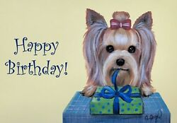 Yorkshire Terrier Yorkie set of 6 BIRTHDAY Cards