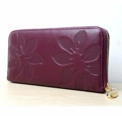 Woman Genuine Leather Clutch Wallet For Ladies Evening Purse Gift For Wife Girl
