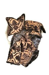 Luxurios Throw New 100 Silk And Faux Fur Throw And Pillow Set
