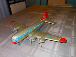 Huge 19 Inch Alps Nwa Northwest Antique Tin Toy Airplane Japan Friction