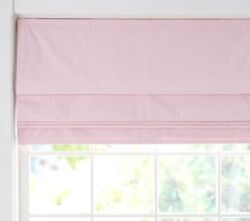 💖 Anddagger New In Box Anddagger Pottery Barn Kids Blackout Roman Shade Gingham Pink 32 X 64
