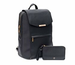 P.MAI Premium Valletta Leather Laptop Backpack for Women with Wristlet I 15-Inch
