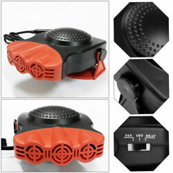 BlackRed 12V Car Vehicle Ceramic Heating Heater Cooling Fan Demister Portable