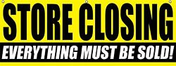 Store Closing Everything Must Sold Vinyl Banner Clearance Sale Advertising Sign
