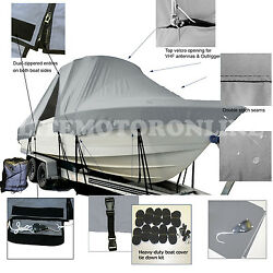 Angler 22 Panga 22and039 Center Console T-top Hard-top Fishing Storage Boat Cover