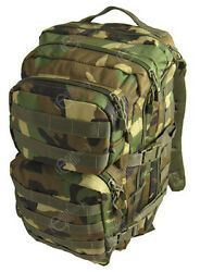 Woodland Camo Molle Rucksack Assault Large 36l Backpack Tactical Army Day Pack