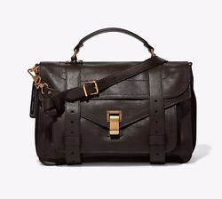 NEW w Defect Proenza Schouler Women's  PS1 Medium Dark Chocolate Messenger Bag