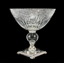Hawkes Footed Centerpiece Bowl, Sterling Silver, Cut Crystal. Stunning Details