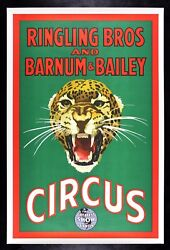 Ringling Bros Barnum Bailey ✯ Cinemasterpieces 1940and039s Leopard Rare Circus Poster