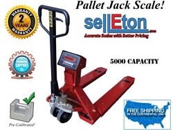 Op-918 Industrial Warehouse Pallet Jack Scale With Built-in Printer 5000 Lbs X 1