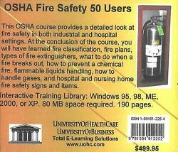 Osha Fire Safety 50 Users By Daniel Farb Cd-audio 2005