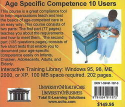 Age Specific Competence 10 Users By Daniel Farb Cd-rom 2005